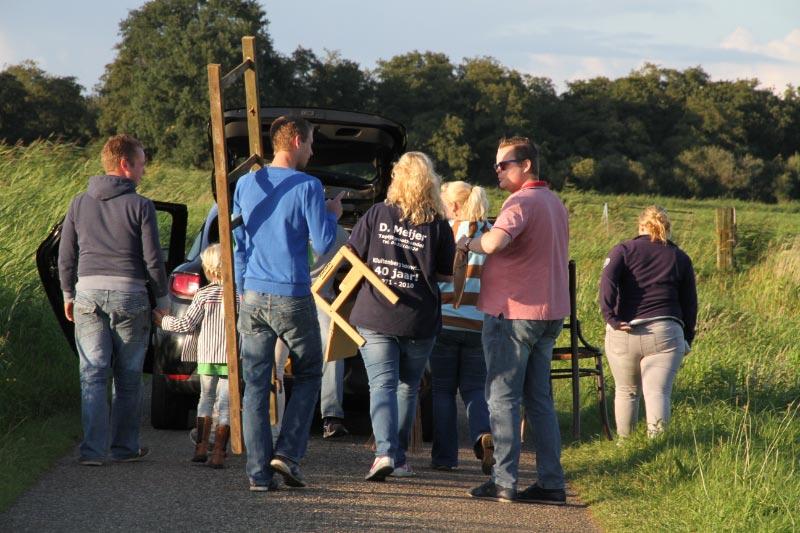 Ook de figuranten van Kluitenberg oefenen volop voor het Bloemencorso.